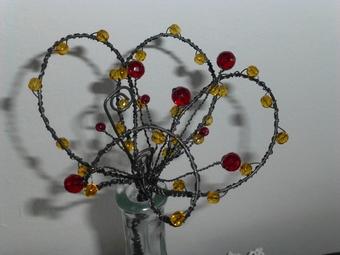 drátování, drát, drátované dekorace
